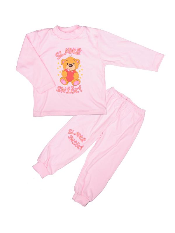 Pyžamo Macko so srdcom - sladké sníčky - ružové - Veľkost: 86