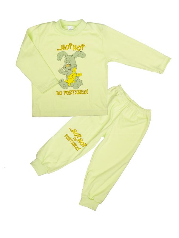 Pyžamo Zajko - hop hop - zelené - Veľkost: 86