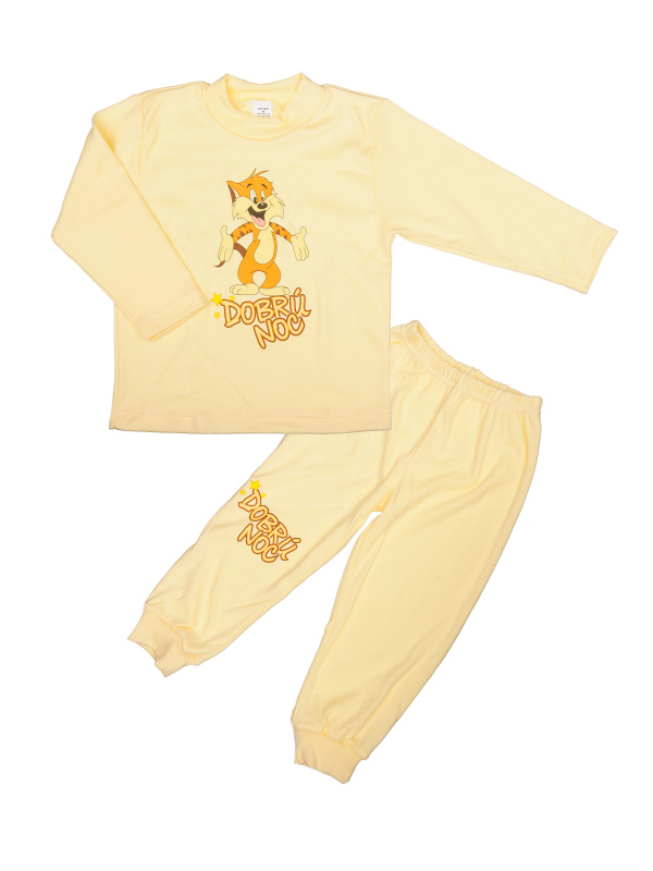 Pyžamo Tiger - dobrú noc - žlté - Veľkost: 86
