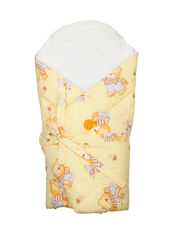 Zavinovačka s výstužou (žltá) - Macko s medom - rozmer: 70x70 (cm)