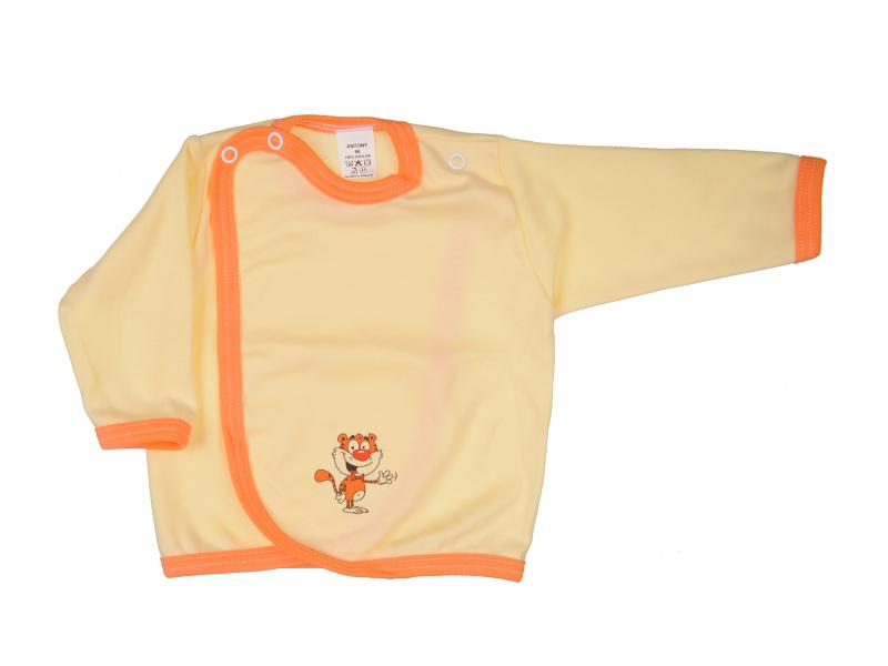 Prekladací kabátik - Tiger - žltý - Veľkost: 62