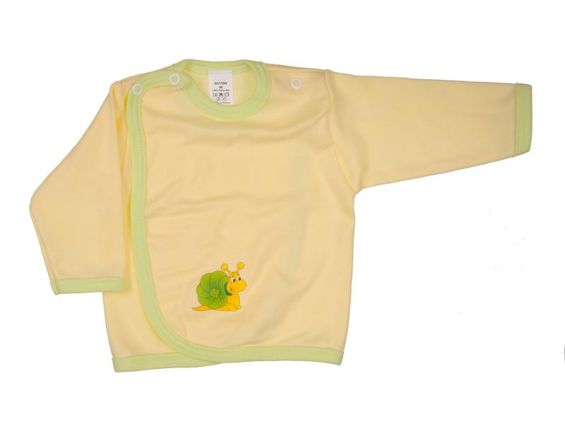 Prekladací kabátik - Slimák - žltý - Veľkost: 62