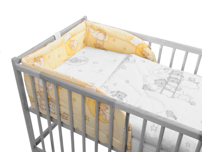 Mantinel (smotanový) - Macko na rebríku - Veľkost: 175 cm x 30 cm