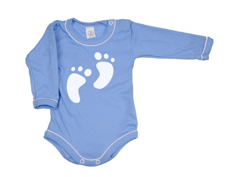 Body dlhý rukáv - Feet - modré - Veľkost: 104
