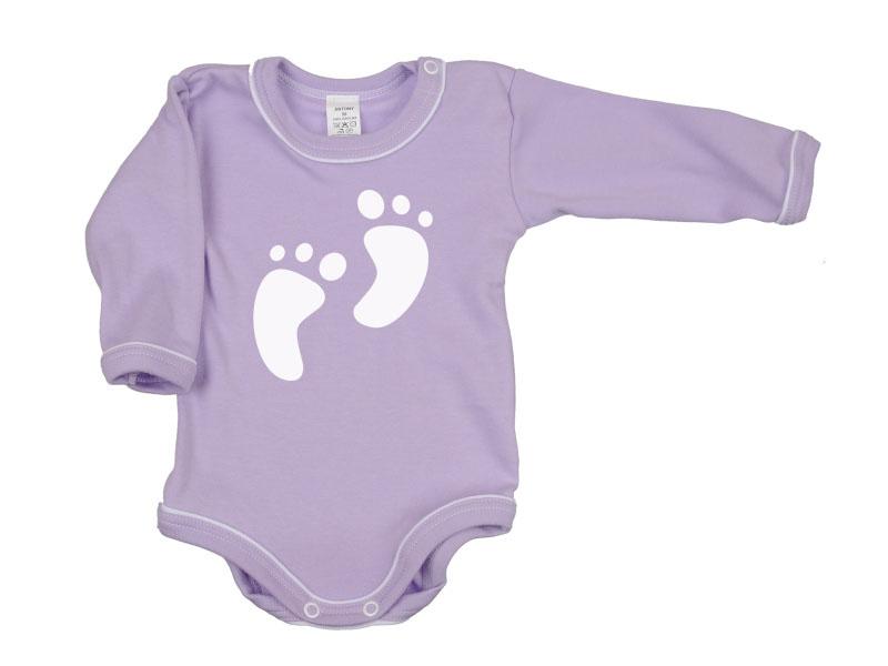 Body dlhý rukáv - Feet - fialové - Veľkost: 104