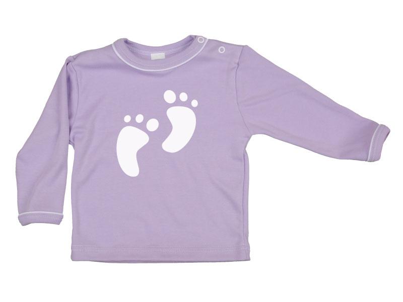Tričko dlhý rukáv - Feet - fialové - Veľkost: 128
