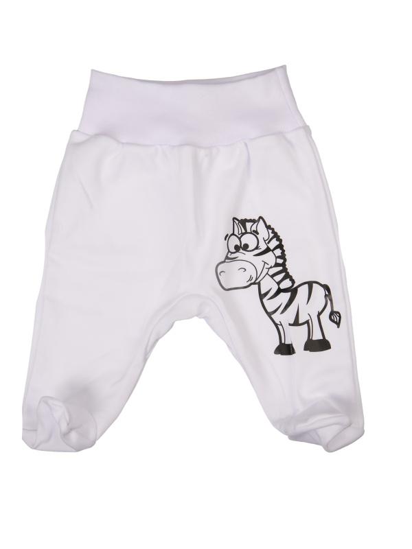 Polodupačky - Zebra - biele - Veľkost: 80