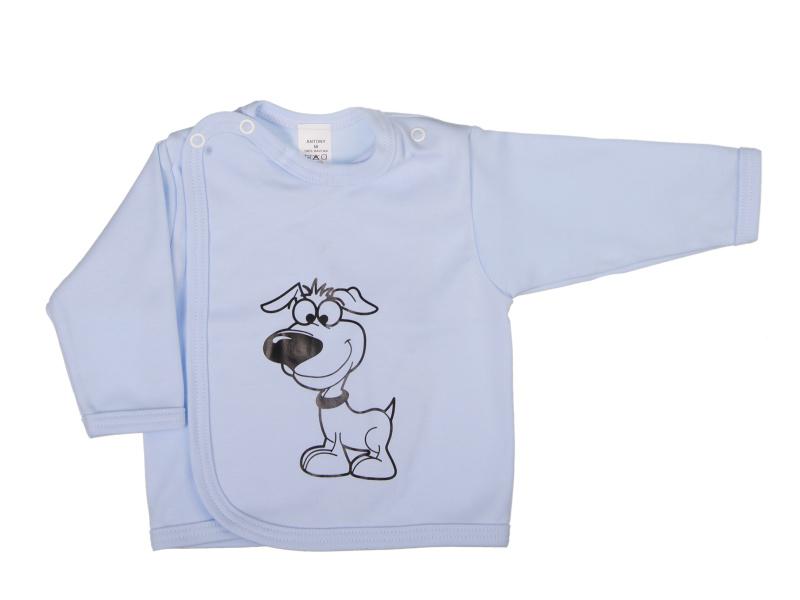 Prekladací kabátik - Pes - modrý - Veľkost: 62