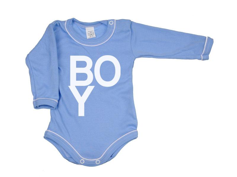 Body dlhý rukáv - Boy - modré - Veľkost: 80
