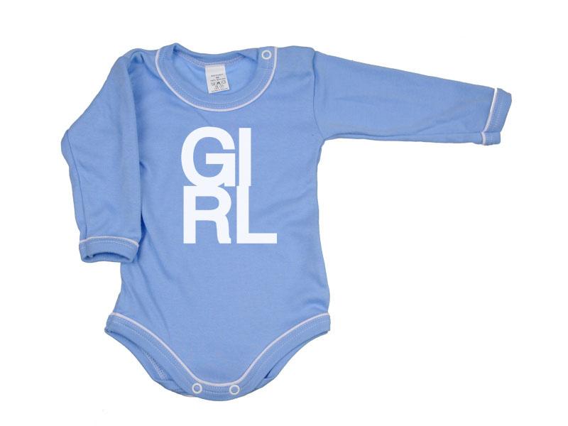 Body dlhý rukáv - Girl - modré - Veľkost: 104