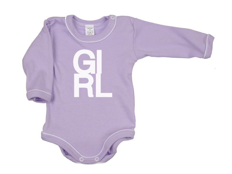 Body dlhý rukáv - Girl - fialové - Veľkost: 104