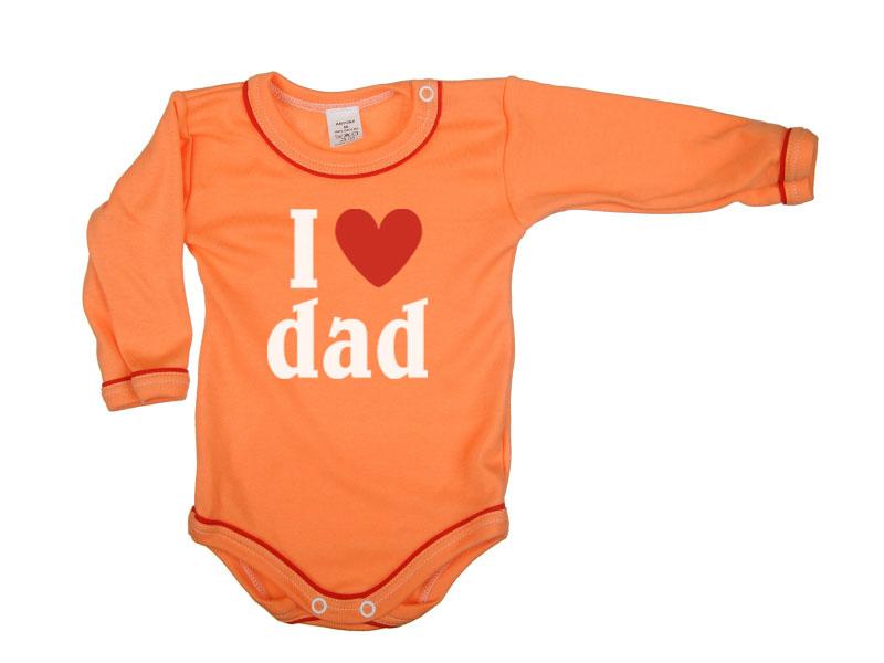 Body dlhý rukáv - Dad - oranžové - Veľkost: 104