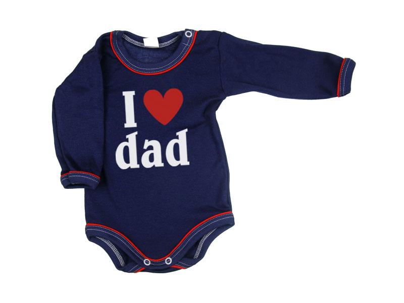 Body dlhý rukáv - Dad - tmavomodré - Veľkost: 104