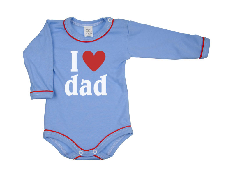 Body dlhý rukáv - Dad - modré - Veľkost: 104