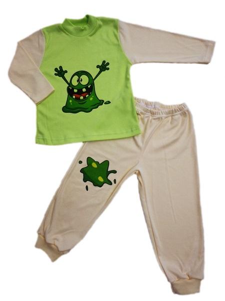 Pyžamo - strašidlo - zeleno-smotanové - Veľkost: 86