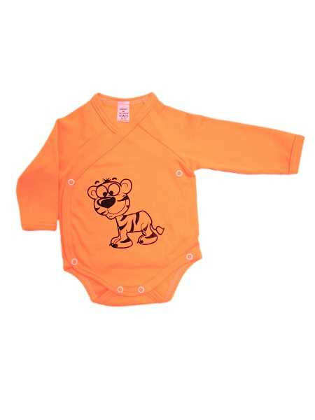 Prekladacie body - Tigrík - oranžové - Veľkost: 62