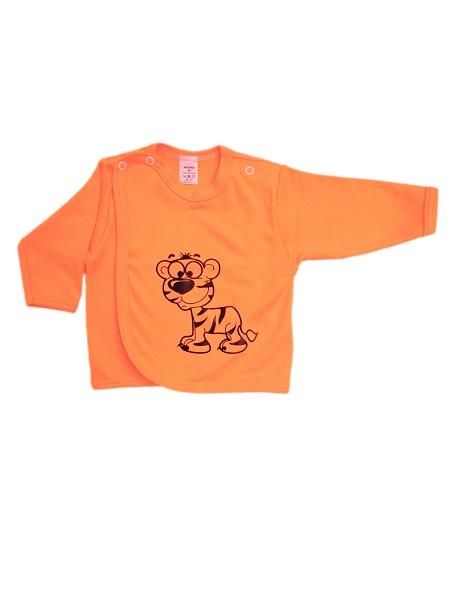 Prekladací kabátik - Tigrík - oranžový - Veľkost: 62