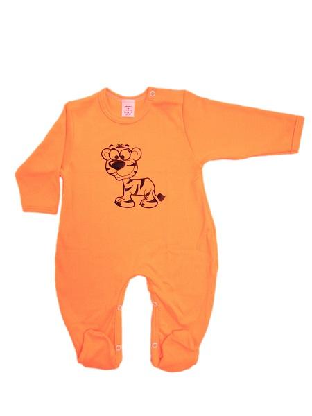 Overal - Tigrík - oranžový - Veľkost: 56
