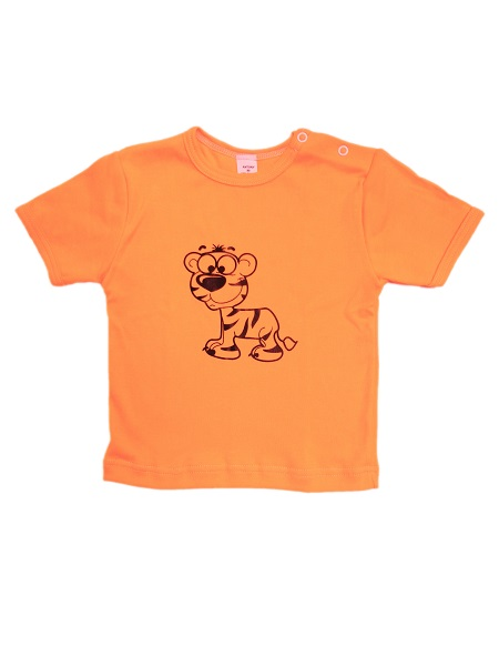 Tričko krátky rukáv - Tigrík- oranžové - Veľkost: 98