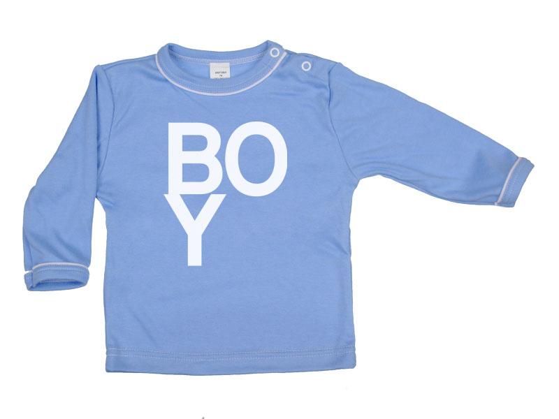 Tričko dlhý rukáv - Boy - modré - Veľkost: 128