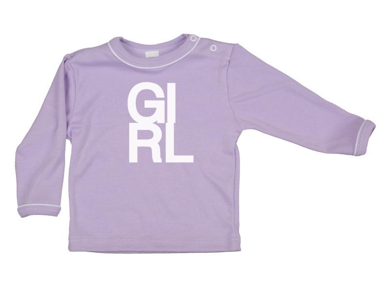Tričko dlhý rukáv - Girl - fialové - Veľkost: 80