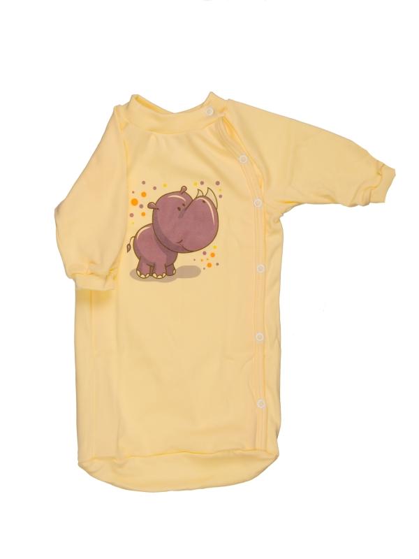 Bavlnený spací vak - Nosorožec - žltý - Veľkost: 56