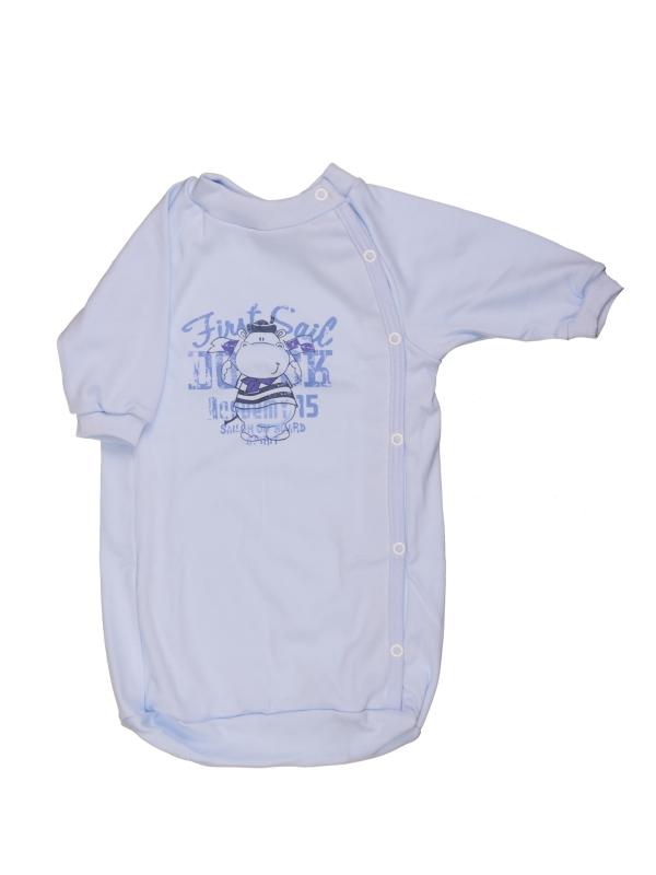 Bavlnený spací vak - Hrošík - modrý - Veľkost: 56