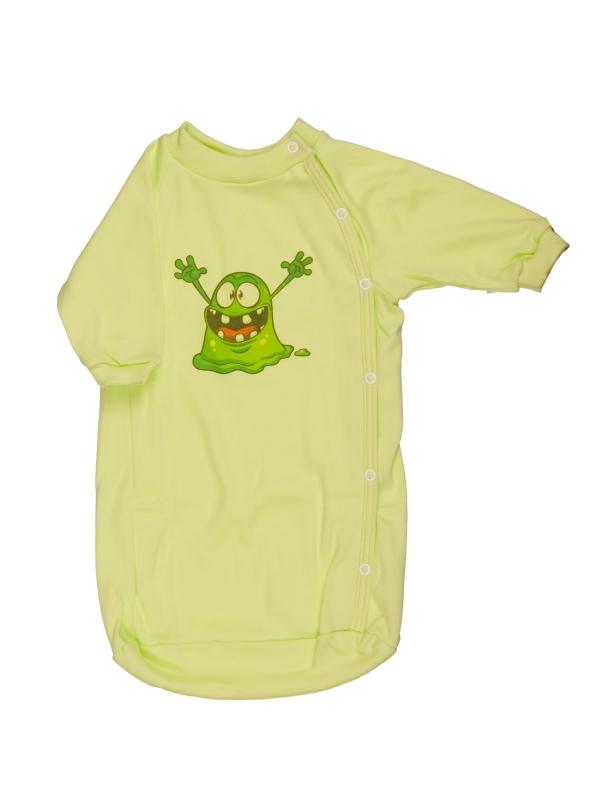 Bavlnený spací vak - Strašidlo - zelený - Veľkost: 56