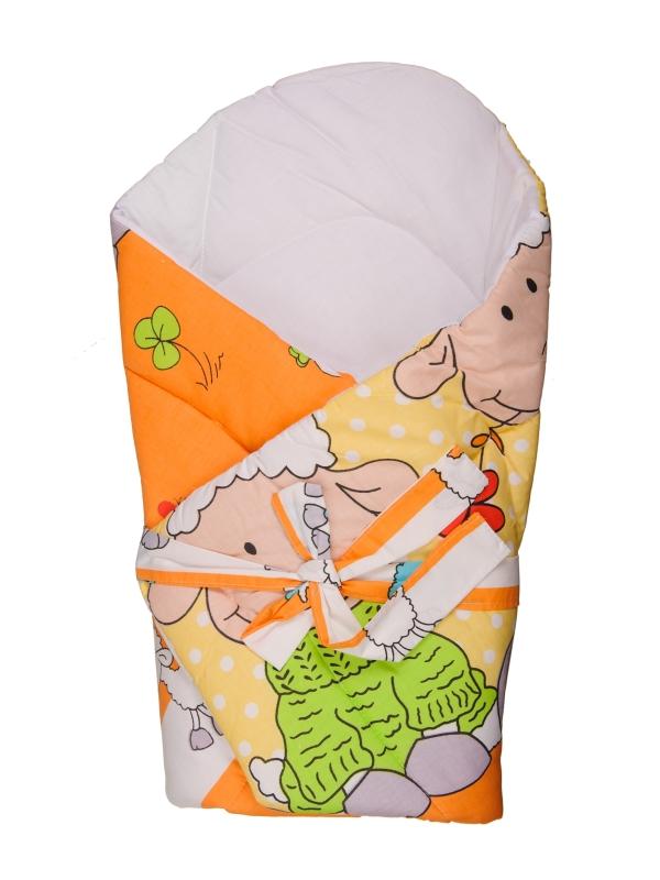 Zavinovačka s výstužou (oranžová) - Ovečky - rozmer: 70x70 (cm)